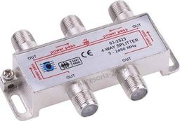 Cabletech Splitter rozgałęźnik rozdzielacz antenowy 4 TV