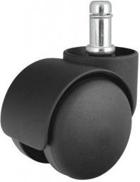 Kółka do foteli gamingowych czarne, średnica trzpienia: 11 mm, opakowanie 5 szt