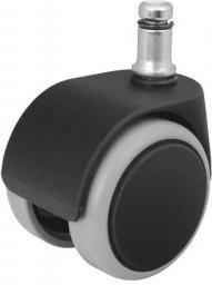 Kółka do foteli gamingowych, czarne, średnica trzpienia: 11 mm, opakowanie 5 szt