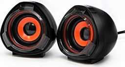 Głośniki komputerowe Logo Logo głośniki 2.0, 5W, czarne, regulacja głośności