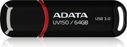 Pendrive ADATA DashDrive Value UV150 64GB USB 3.0 Czarny (AUV150-64G-RBK)