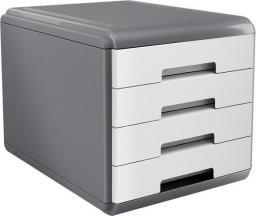 Arda organizer MyDesk szaro-biały 4 szuflady  (18P4PB)