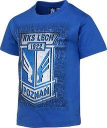 KKS Lech Koszulka dziecięca Herb Kibice niebieska S580134 niebieski 128 cm