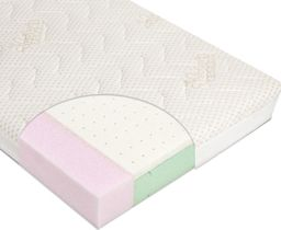 Babys Zone Materac do łóżeczka VARIO LATEX 120x60 + pokrowiec Amicor