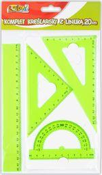 Penmate Komplet kreślarski z linijką 20cm zielony PENMATE