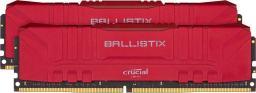 Pamięć Crucial Ballistix Red at DDR4 3600 DRAM Desktop Gaming Memory Kit 32GB (16GBx2) CL16 (BL2K16G36C16U4R)