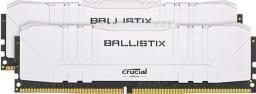 Pamięć Crucial Ballistix White at DDR4 2666 DRAM Desktop Gaming Memory Kit 16GB (8GBx2) CL16 (BL2K8G26C16U4W)