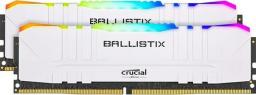 Pamięć Crucial Ballistix RGB White at DDR4 3200 DRAM Desktop Gaming Memory Kit 16GB (8GBx2) CL16 (BL2K8G32C16U4WL)
