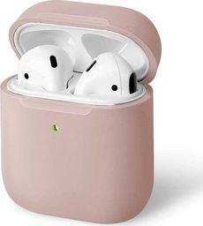 UNIQ UNIQ etui Lino AirPods 1/2 gen. Silicone różowy/blush pink
