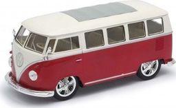 Welly Model kolekcjonerski 1963 Volkswagen T1 Bus czerwono-biały