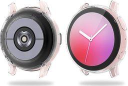 Alogy Etui silikonowe Alogy case do Galaxy Watch Active 2 44mm Przezroczyste uniwersalny