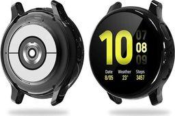 Alogy Etui silikonowe Alogy case do Galaxy Watch Active 2 44mm Czarne uniwersalny