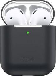Baseus Baseus silikonowe etui na słuchawki Apple AirPods 1/2 case black uniwersalny