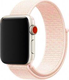 Alogy Pasek nylonowy Alogy do Apple Watch 1/2/3/4/5 42/44mm Jasny różowy uniwersalny