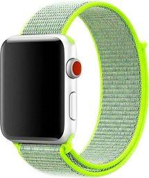 Alogy Pasek nylonowy Alogy do Apple Watch 1/2/3/4/5 42/44mm Zielony uniwersalny