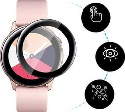 Alogy Elastyczne Szkło 3D Alogy do Samsung Galaxy Watch Active 2 40mm Czarne uniwersalny
