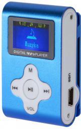 Odtwarzacz MP3 Quer Dyktafon / Radio FM, niebieski (KOM0743)