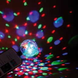 Platinet Mini kula dyskotekowa LED do smartfona USB-MicroUSB OMBM Platinet