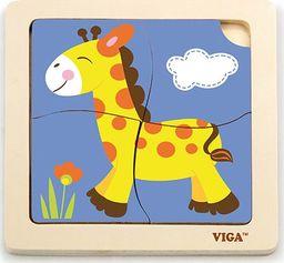 Viga Puzzle na podkładce Żyrafa