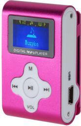 Odtwarzacz MP3 Quer Dyktafon / Radio FM, różowy (KOM0744)