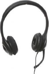 Słuchawki z mikrofonem Sandberg Plug'n Talk, czarne + adapter (125-93)