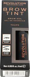 Makeup Revolution Makeup Revolution Brow Tint Żel do stylizacji brwi Taupe 1szt