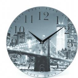 Platinet zegar ścienny miasto