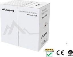 Lanberg Kabel sieciowy LCU6-12CU-0305-S (UTP; 305m; kat. 6; kolor szary)