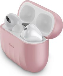 Baseus Silikonowe etui ochronne Baseus Shell Pattern do Apple AirPods Pro (różowe)