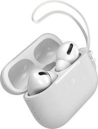 Baseus Silikonowe etui ochronne Baseus Let's Go ze smyczką, do Apple AirPods Pro (białe)