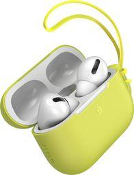 Baseus Silikonowe etui ochronne Baseus Let's Go ze smyczką, do Apple AirPods Pro (żółty)