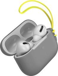 Baseus Silikonowe etui ochronne Baseus Let's Go ze smyczką, do Apple AirPods Pro (szare)