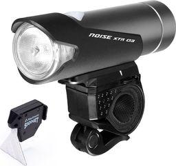 MacTronic Lampa rowerowa przednia, Mactronic NOISE XTR 04, 712 lm, ładowalna, zestaw (akumulator, uchwyt), blister