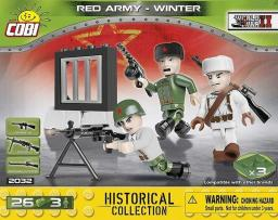 Cobi 2031 WWII Red Army - winter 26 klocków / 3 figurki