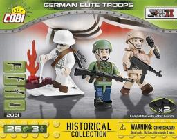 Cobi WWII German Elite Troops 26 klocków / 3 figurki (2031)