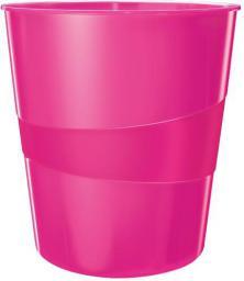 Kosz na śmieci Leitz Wow 15L różowy (10K345W)