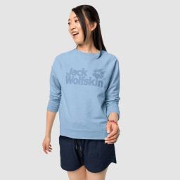Jack Wolfskin Bluza damska Logo Sweatshirt W ice blue r. L