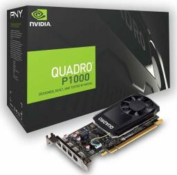Karta graficzna PNY Technologies Quadro P1000 4GB GDDR5 (VCQP1000DVIV2-PB)