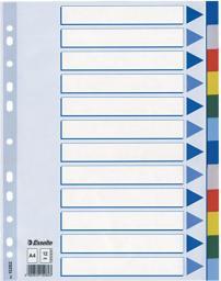 Esselte Przekładki do segregatora A4 PP plastikowe 12 kart (10K217D)