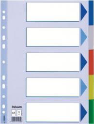 Esselte Przekładki do segregatora A4 plastikowe 5 kartek (10K217B)