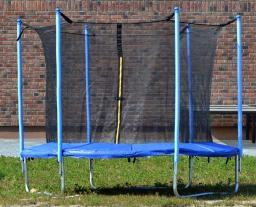 ENERO  Trampolina ogrodowa z siatką wewnętrzną 12FT 366cm (4 nogi)