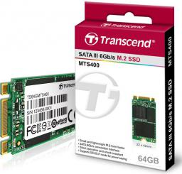 Dysk SSD Transcend M.2 2242 64GB SATA3 (TS64GMTS400)