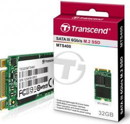 Dysk SSD Transcend MTS400 32 GB M.2 2242 SATA III (TS32GMTS400)