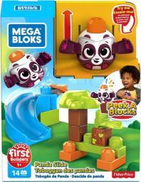 Mega Bloks Klocki A kuku Zjezdzalnia + Panda