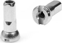 CNSPOKE Nypel Sapim Polyax mosiężny 12 mm - srebrny  uniwersalny