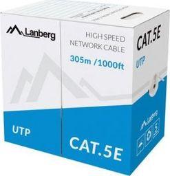 Przewód Lanberg Kabel UTP Kat.5E CCA 305m drut niebieski LCU5-10CC-0305-B-LCU5-10CC-0305-B