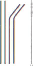Lamart LT7053 metalowe słomki tęczowe 4 sztuki (42003297)