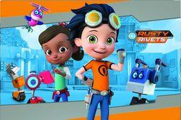 Nickelodeon Dywan dla dzieci ultra miękki 100x150 Rafcio Śrubka