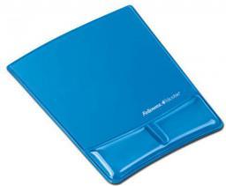 Podkładka Fellowes seria CRYSTAL - Health-V pod mysz i nadgarstek, niebieska (9182201)