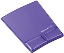 Podkładka Fellowes seria CRYSTAL - Health -V pod mysz i nadgarstek, fioletowa (9183501)